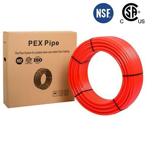 1 X 100ft Red Pex Tubing pipe nsf Pex b 1 inch 100 Ft Potable Water Nonbarrier