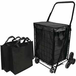 Helping Hand Fq39908bk Stair Climb Cart With Liner 2 Bags Free Ship