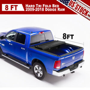 Set Of Tonneau Cover Tri Fold For 2003 08 Dodge Ram 1500 2500 3500 Pickup 8 Bed