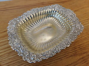 Whiting Sterling Silver Gold Washed Bowl 7 25 X 5 25 98g Nice