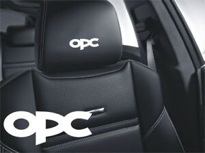 5x Opc Opel Sticker Logo For Leather Seats And Other Flat And Smooth Surfaces