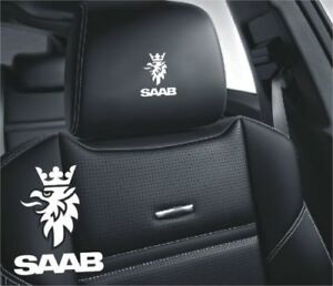 5x Saab Sticker Logo For Leather Seats And Other Flat And Smooth Surfaces
