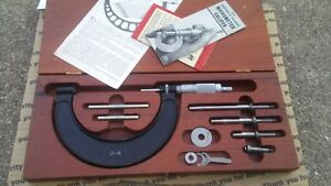 Brown And Sharpe 0 4 Outside Micrometer Set