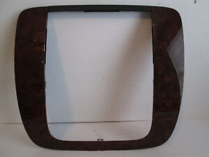 2007 2014 Tahoe Yukon Silverado Dash Radio Bezel Trim Wood Grain Walnut Oem