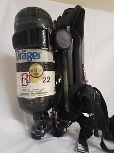 Drager Pss7000 4500psi Scba With Pass Hud Amp Mask W 45 Min Tank Current Hydro