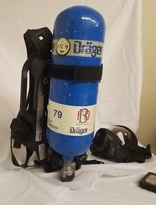 Drager Pss7000 4500psi Scba With Pass Hud Amp Mask W 60 Min Tank Current Hydro