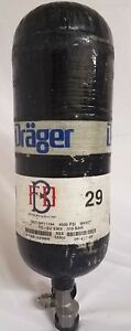 2009 Drager 4500psi 45min Carbon Fiber Scba Bottle Cylinder 2009 Works w Scott
