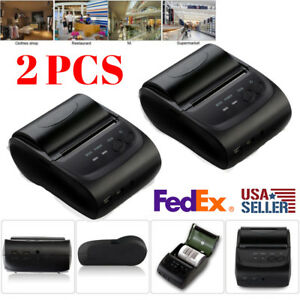 2x 58mm Thermal Receipt Mobile Printer Wireless Bluetooth Portable Printer Oy