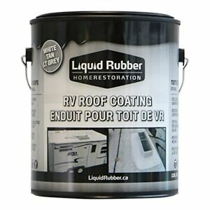 Liquid Rubber Rv Roof Coating sealant 1 Gallon Brilliant White Sola New