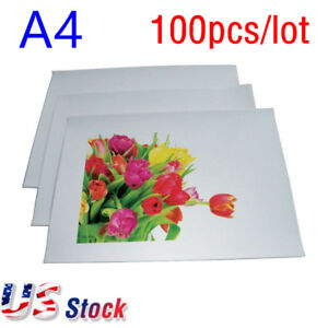 Us Stock A4 Light Color T shirt Heat Transfer Paper white 100pcs carton