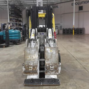 2012 Cascade 100f rds Paper Roll Clamp 77 Opening 10 000lbs Capacity Class Iv