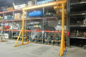 His 3 Ton 14 Span Gantry Crane 176 Under Beam W harrington Electric Hoist 460v