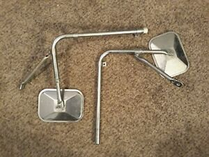 Set Of Vintage Truck West Coast Style Towing Mirrors Ford Dodge Chevy