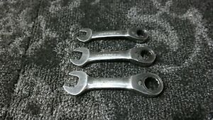 Blue point Stubby Ratcheting Combo Wrench Set 12 14 16 No Reserve No Engraving