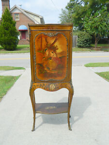 Beautiful Painted Music Cabinet Bronze Mounts