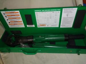 Greenlee 1990 Dieless Hydraulic Cable Crimper