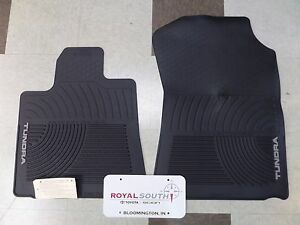 Toyota Tundra 2007 2011 2 piece All Weather Rubber Floor Mats Genuine Oem Oe