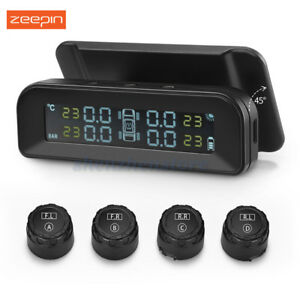 Zeepin C260 Solar Tpms Real time Tire Pressure Monitor System 4 External Sensors
