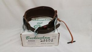 Buckingham Linemen s Body Belt Leather Size 1958 d20 New Old Stock