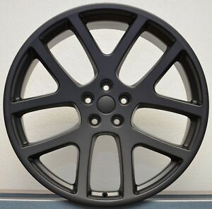 4 20 Awd Viper Satin Black Charger Magnum 300c Wheels Rims Set Dodge