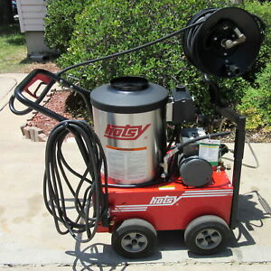 Used Hotsy 555ss w hose Reel Electric Hot Water Prw Sn 172023 1 109 033 0
