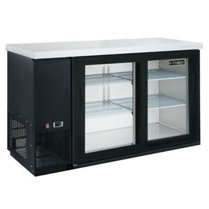 Dukers Dbb60 h2 60 Refrigerated Back Bar Cooler With Hinged Door