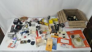 Vintage Mixed Lot Of Electronic Components Parts Pieces Testers Junk Drawer