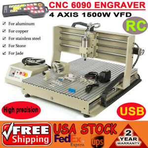 Usb Cnc 6090 Router Engraver Drilling Milling Machine 4 Axis Handwheel 110v