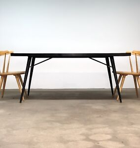 Paul Mccobb Planner Group Black Extension Dining Table Mid Century