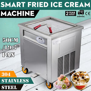 19 7 Smart Fried Ice Cream Machine 1800w With Control Panel 304 Stainless Steel