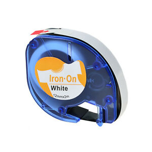 1pk Iron On White Fabric Label Tape For Dymo Letra Tag Lt 18771 1 2 12mm