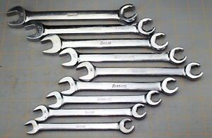Snap On Combination Open End Flare Nut Metric Wrench Set Rxsm 10 19mm Line Brake