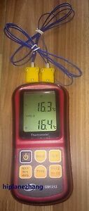 Digital Thermometer Dual Channel Input Thermocouple K J T E R S N C f Selection