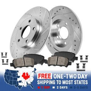 Rear Drilled Slotted Brake Rotors Ceramic Pads For 2017 2018 Ford Escape