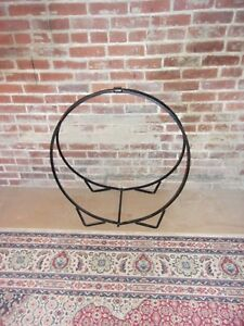 Antique Wood Large Fireplace Holder Solid Steel Selling Out Make Offer