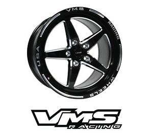 Vms Racing Star 5 Spoke Rear Drag Rims Wheels 17x10 For 04 11 Mazda Rx8
