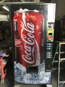 Coca cola Dixie Narco 368 Cold Drink 8 Select Single Price Soda Vending Machine