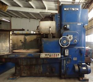 Mattison Rotary Surface Grinder Model 24 42 Grinding Wheel