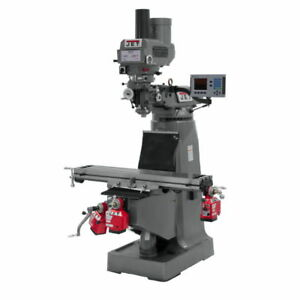 Jet 690400 Jtm 4vs Mill With 3 axis Acu rite 200s knee And Power Draw Bar