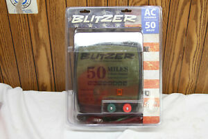 Blitzer Electric Fence Controller Ac Powered 50 Miles 2 Joule Low Impendance cr