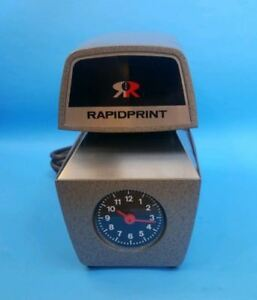 Rapidprint Arc e Analog Face Time And Date Stamp With Key