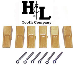1u3302 Cat Style J300 Bucket Teeth 6 Pack Pins Retainers By H l Tooth Co