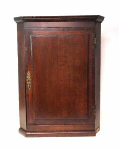 Antique Corner Wall Cabinet Cupboard