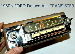 Old Ford Fomoco Classic Chrome Vintage Original Car Dash Radio 1950 s W Presets