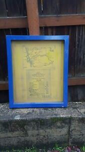 Silk Screen Printing Metal Frame San Diego Cali Roads And Trails Of The Pioneer