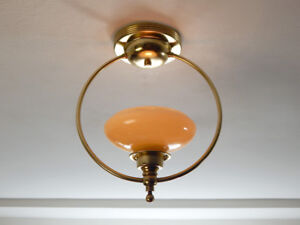 Deco Brass Ring Pendant Ceiling Light Fixture