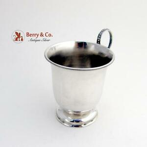 Beaded Baby Cup Coin Silver R W Wilson 1850