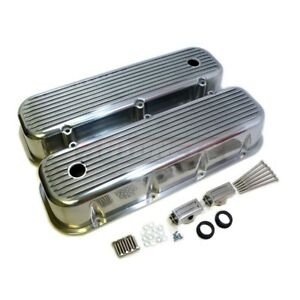Big Block Chevy Polish Aluminum Valve Cover Tall Finned 396 427 454 496 502 Bbc