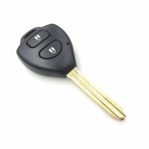 Fit For Toyota Rav4 Corolla Yaris Remote Key Shell Case 2 Button Uncut Fob Case
