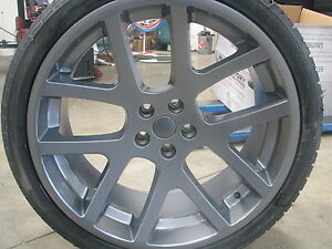22 Inch Stagger Wheels Tires Dodge Srt Replica Gray Rims Challenger Charger 300c